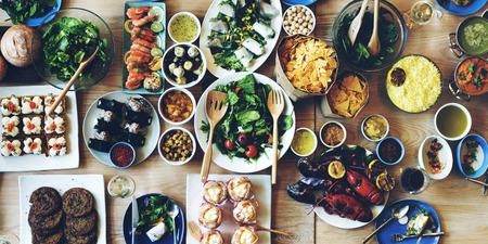 holiday gathering: Food Catering Cuisine Culinary Gourmet Buffet Party Concept