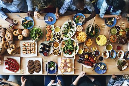 Concepto La restauración de alimentos de cocina culinaria Partido Buffet Gourmet