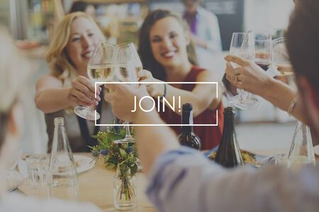 wine register: Join Food Eating Delicious Party Celebration Concept