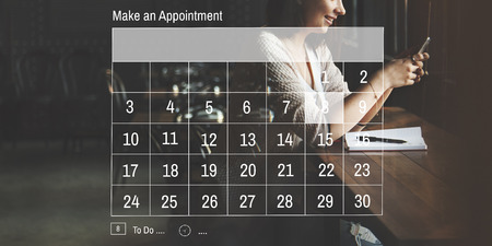 appointing: Make an Appointment Calendar Schedule Organization Planning Concept