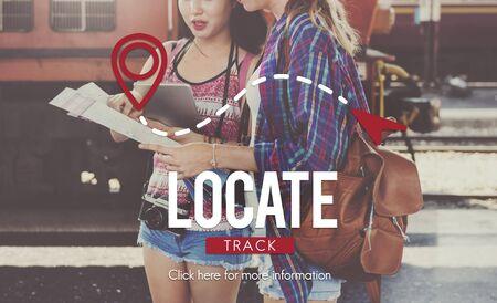 packer: Locate Location Direction Destination Position Concept