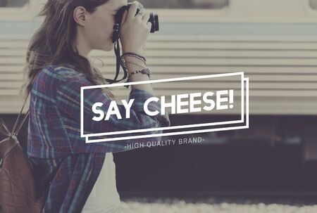 say cheese: Smile Expression Say Cheese Photo Concept