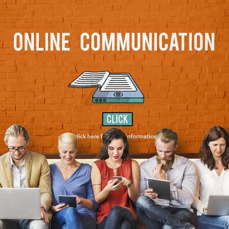 web security: Online Communication Connection Information Concept
