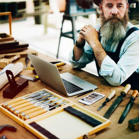 woodwork: Carpenter Career Handicraft Wooden Woodwork Concept