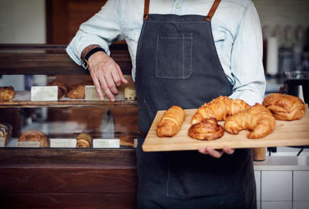 carbohydrates: Croissant Carbohydrates Bake Cafe Nutrition Concept Stock Photo