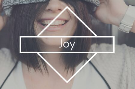 joy of life: Joy Life Live Love Happiness Appreciate Satisfaction Concept Stock Photo