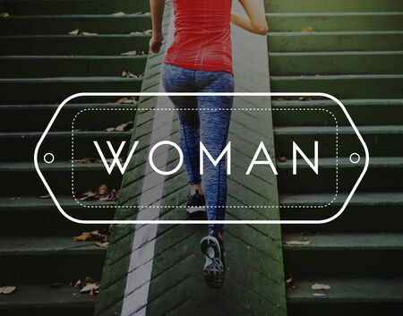 feminism: Woman Women Female Feminism Girl Lady Madam Concept Stock Photo
