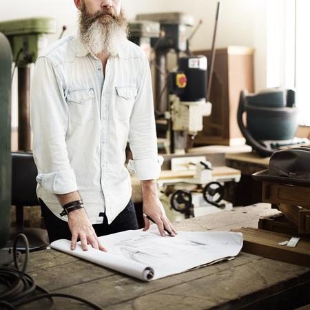 woodwork: Blueprint Capenter Handicraft Woodwork Draft Concept