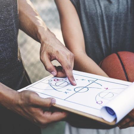 Giocatore di basket Sport Tattiche Plan concetto di gioco Archivio Fotografico
