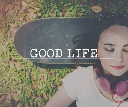 the good life: Good Life Healthy Good Life Concept