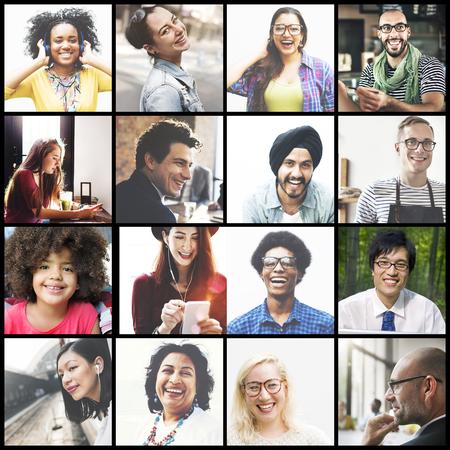 多様性様々 な民族の民族統一バリエーション コンセプト