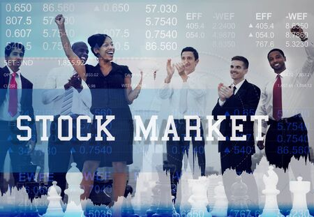 winning stock: Stock Market Exchange Global Finance Shares Concept
