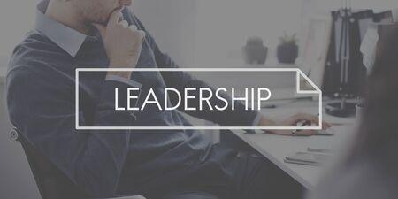 autoridad: Concepto l�der liderazgo de la Autoridad de Gesti�n de Boss