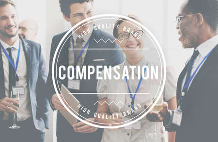 compensated: Compensation Finance Bonus Incentive Concept Stock Photo