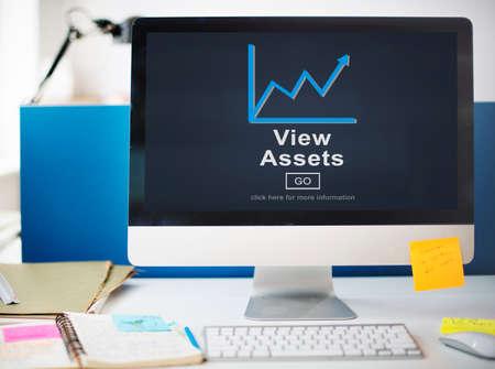 digital asset management: View Assets Business Commerce Currency Estate Concept