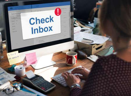 inbox: Message Inbox Notification Icon Concept