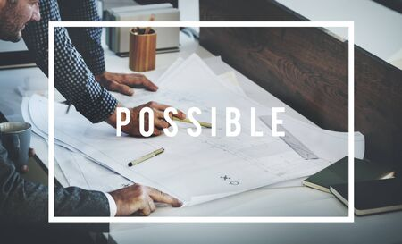 plausible: Possible Achievable Potential Solution Chance Concept Stock Photo