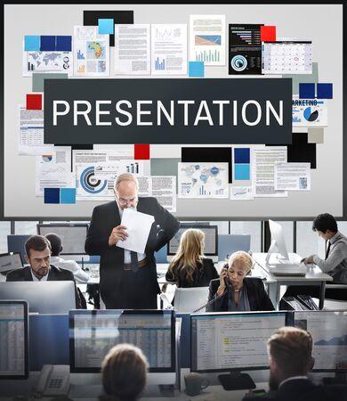 presenter: Presentation Information Audience Presenter Concept Stock Photo