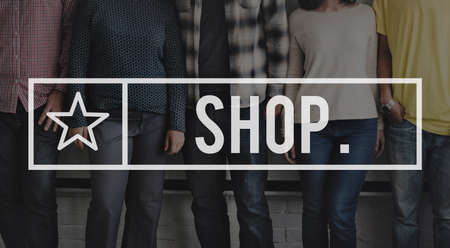 spending: Shop Shopping Spending Store Buying Commerce Concept