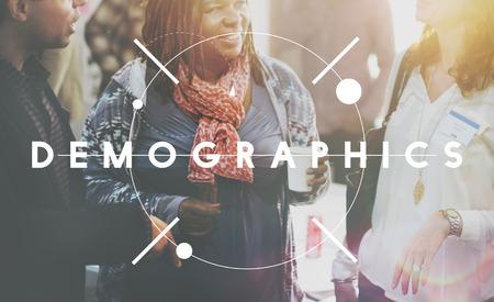 demografia: Demographics Demography Population Society People Concept Foto de archivo