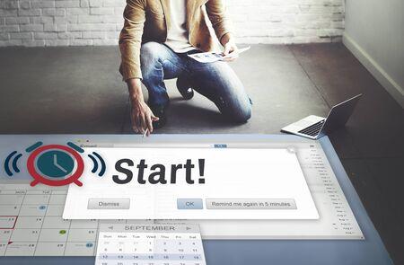 inception: Start Beginning Forward Startup Launch First Activation Concept