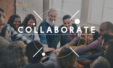 collaborate: Collaborate Strategy Support Team Together Concept Stock Photo