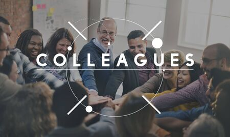 business relationship: Colleagues Team Organization Coopeartion Collaboration Concept