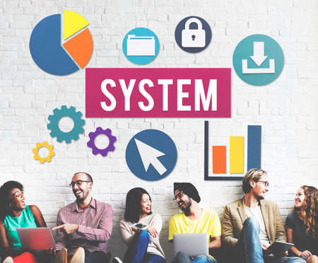 friend chart: System Structure Technology Graphic Concept Stock Photo