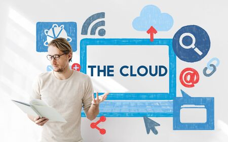 storage: The Cloud Computer Storage Technology Data Concept