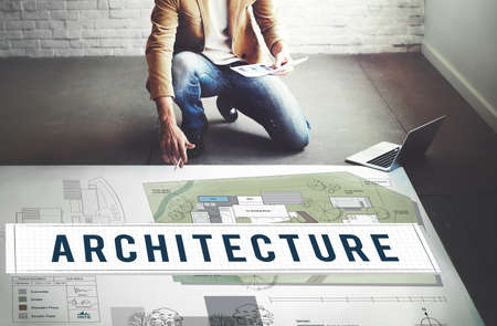 residential construction: Architecture Construction Design Real Estate Residential Concept