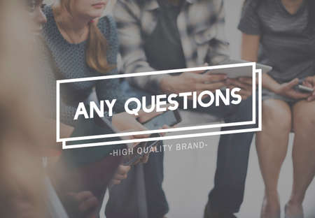 inquiries: Any Questions Asking Customer Service Inquiries Queries Concept