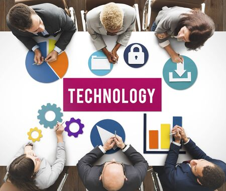advanced technology: Business Technology Advanced Graphics Concept Stock Photo