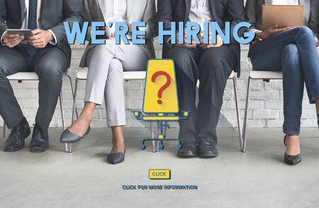 were: Were Hiring Job Search Occupation Recruitment Concept