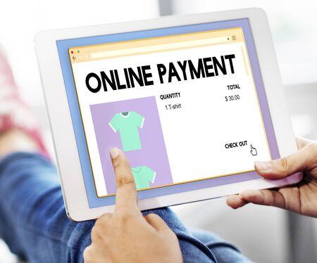 consumerism: Online Payment Commerce Consumerism Credit Concept