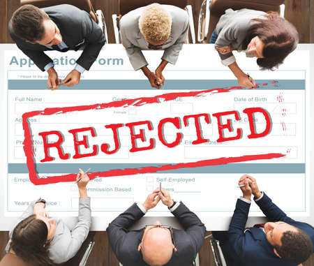 failed plan: Declined Rejected Disagreement Rejection Concept