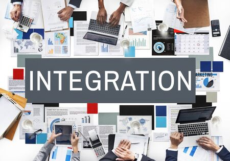 blend: Integration Combine Blend Merge Togetherness Concept