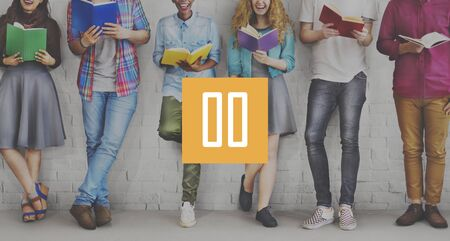 studens: Pause Button Icon Multimedia Stop Break Rest Concept