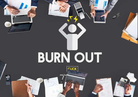 burn out: Burn out Stress Tired Overworked Concept Stock Photo