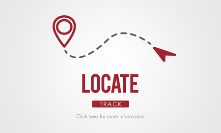 destination: Locate Location Direction Destination Position Concept