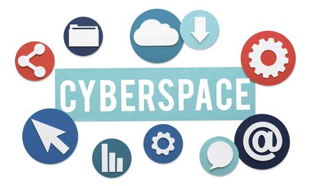 Cyberspace Online Technology Internet Concept Stock Photo