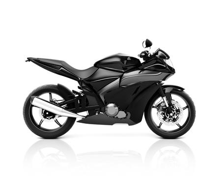 Stylish motorcycle on a white background. Stock fotó