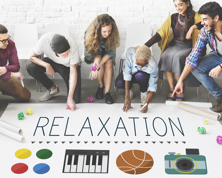 peace plan: Relaxation Life Calm Chill Vacation Peace Rest Concept Stock Photo