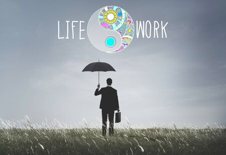 stabilize: Life Work Balance Stability Wellbeing Concept