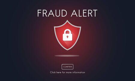 Fraude Scam Phishing Voorzichtig Deception Concept