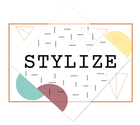 stylize: Stylize Class Design Elegant Hipster Treands Concept Stock Photo