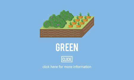 green environment: Go Green Think Conservation Environment Natural Concept