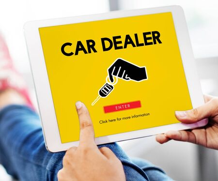 rental: Car Rental Used Car Transportation Vehicle Concept Stock Photo