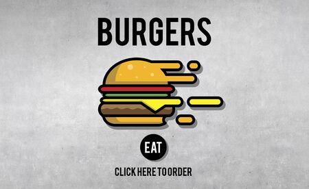 fatness: Burgers Junk Food Fatness Delicious Concept