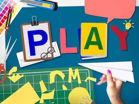 color swatch book: Play Leisure Activity Recreation Entertainment Playing Concept