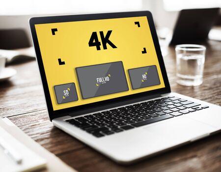 streaming: 4K Digital Entertainment Media Streaming Tv Concept Stock Photo